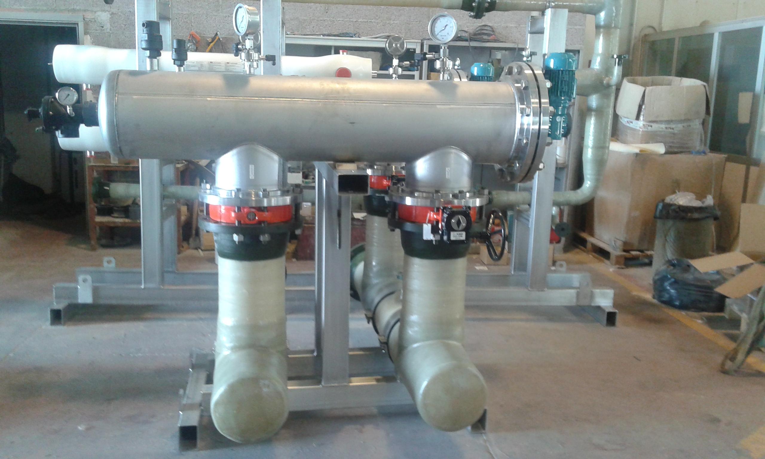 Tubazioni in PRFV e skid per trattamento acque – BURULLUS project – 2016