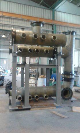 Collettori in PRFV su skid per sistema trattamento acque – Jazan Project – ARABIA SAUDITA-2016