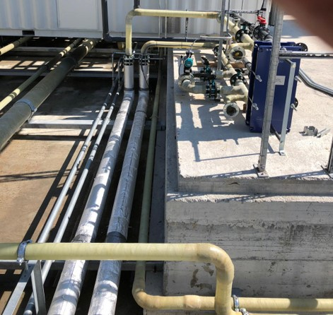 GRP PIPING SUPPLY AND INSTALLATION FOR A PURIFICATION PLANT – GENOVA 2018