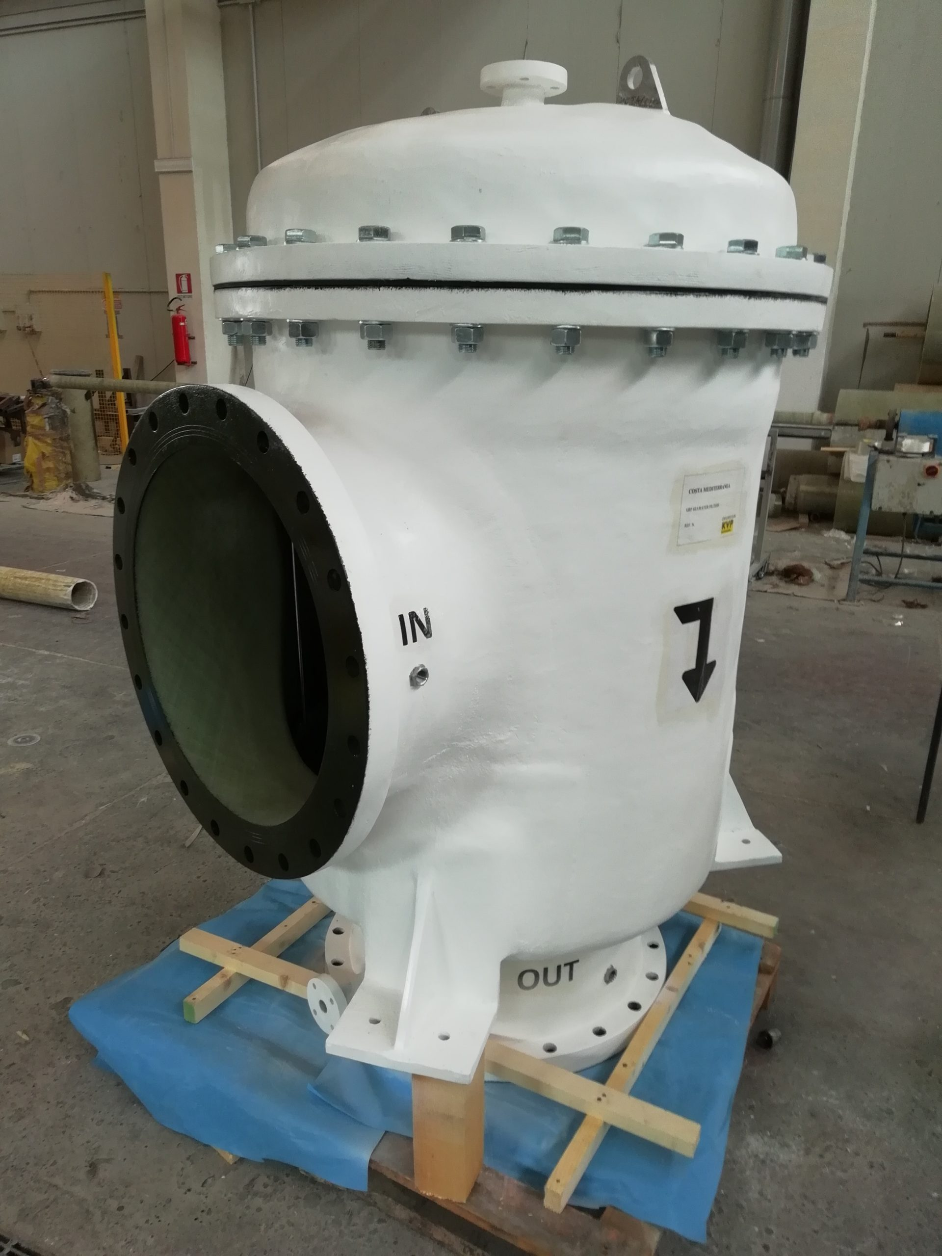 GRP filters for scrubber system of cruise ships