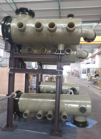 GRP manifolds on skid for water treatment plant – AGADIR – 2019