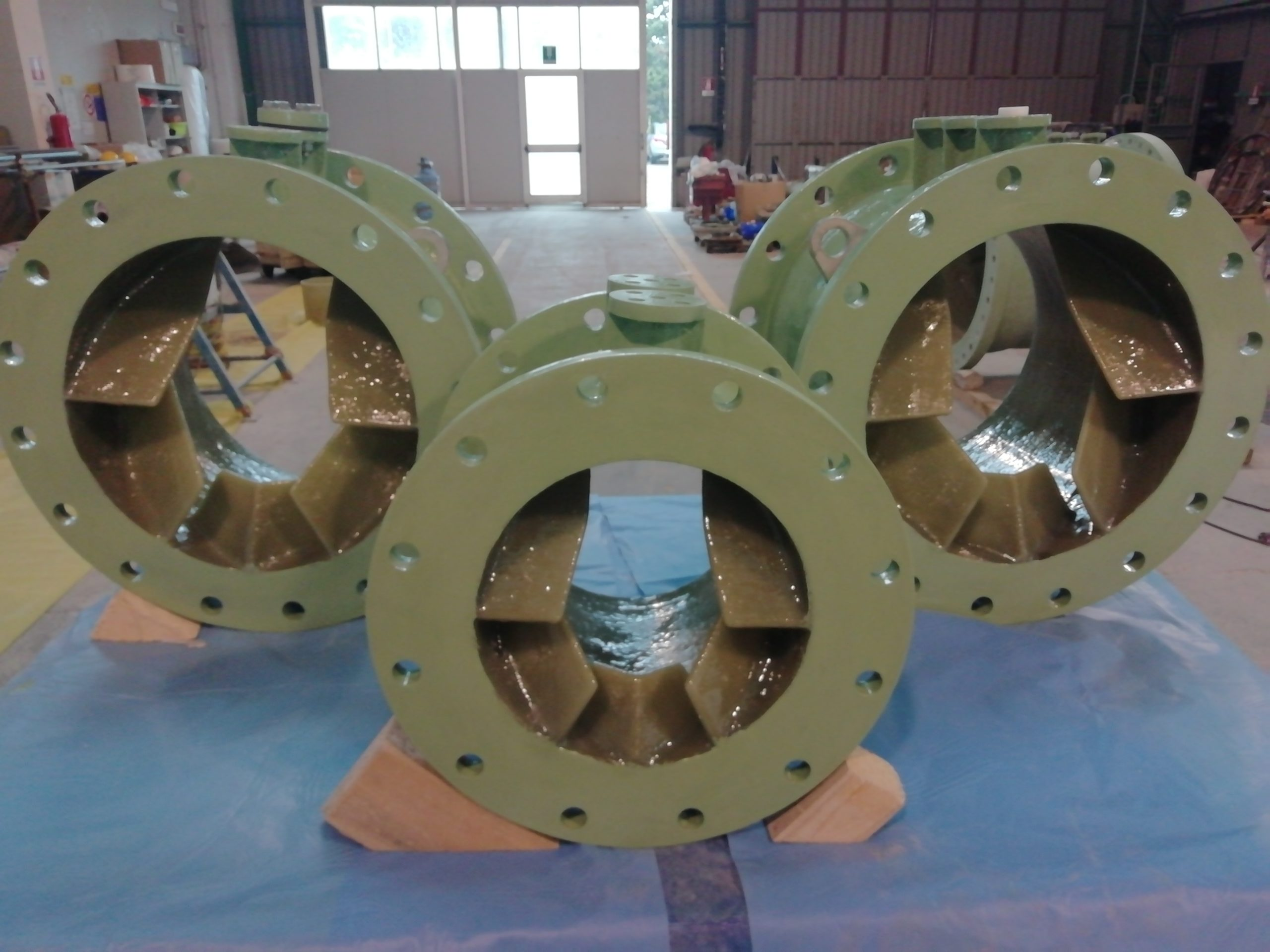 GRP Static mixers for various projects